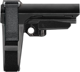 SB TACTICAL BRACE SBA3 BLACK w/ MIL-SPEC BUFFER TUBE
